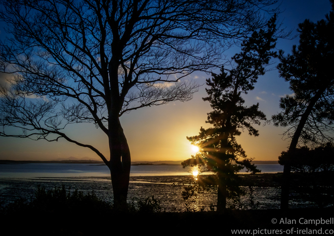 Sunset Strangford Lough Pictures Of Ireland